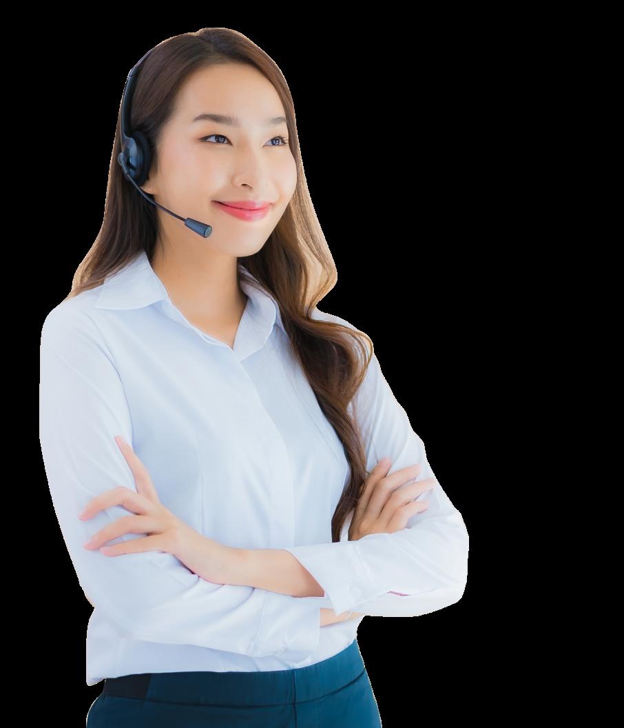 Smiling Customer Service Employee